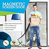 Ultimate MAGNETIC SCREEN DOOR - Full Frame Hook and Look Fasteners to Ensure All Bugs Are Kept Out - 60g Screen Guaranteeing Durability