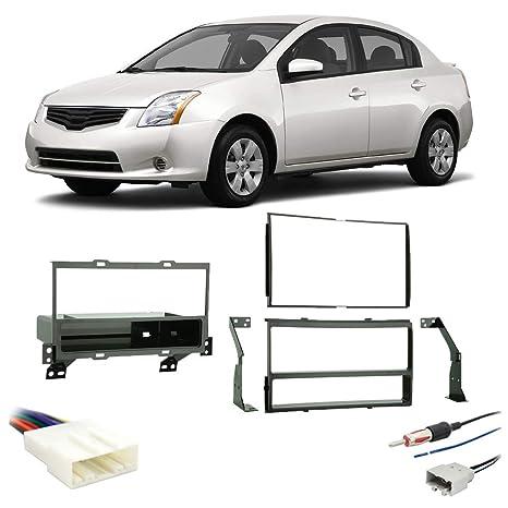 amazon com: fits nissan sentra 2007-2012 double din stereo harness radio  install dash kit: car electronics