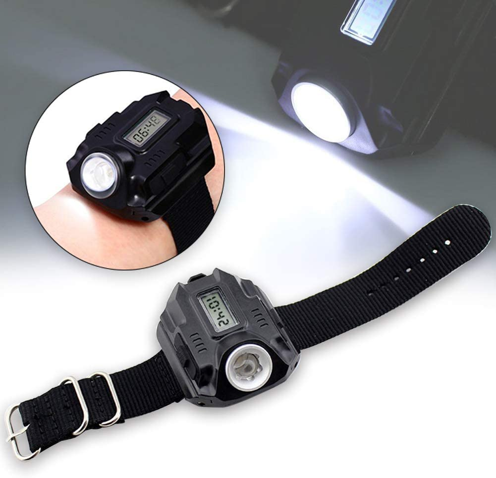 YOTHG Linterna LED para Reloj de Pulsera, Recargable por USB ...