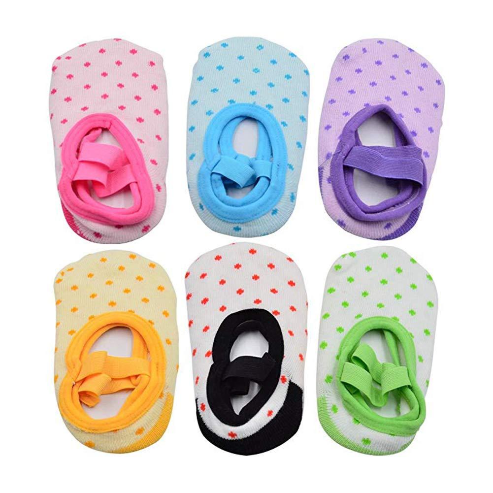 6 Pairs of NonSlip Infant//Toddler Ballet Style Baby Girl Socks for 9-32 month