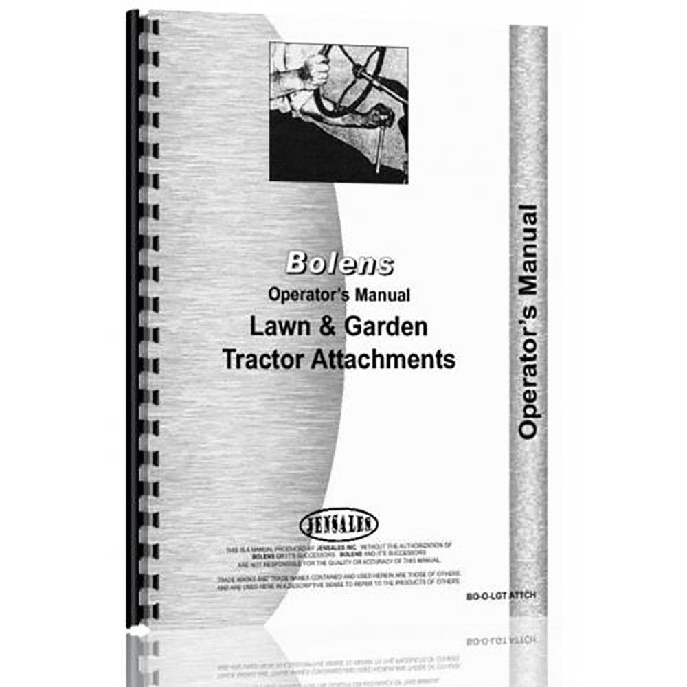 Amazon.com: New Bolens Attachments Operator Manual: Industrial & Scientific
