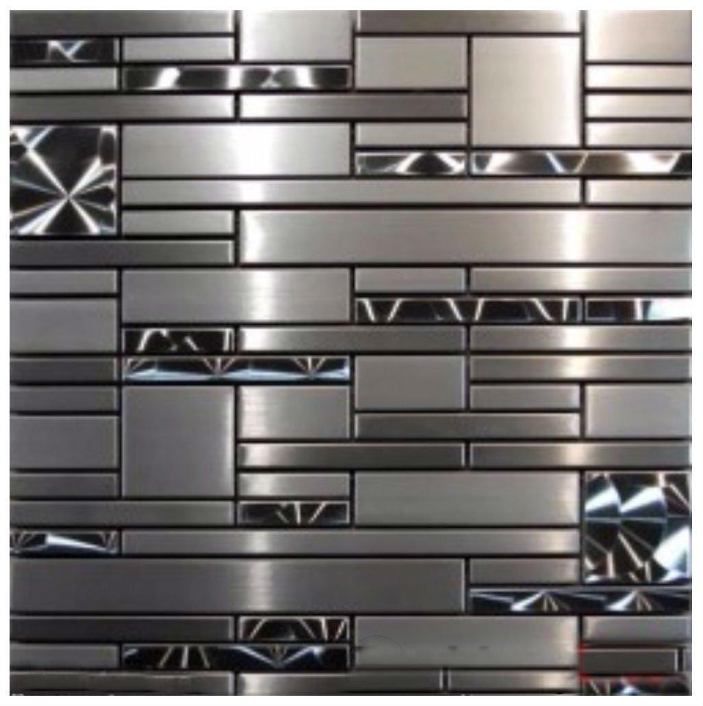 10 SF- Stainless Steel Metal pattern Mosaic Tile Kitchen Backsplash Wall Sink