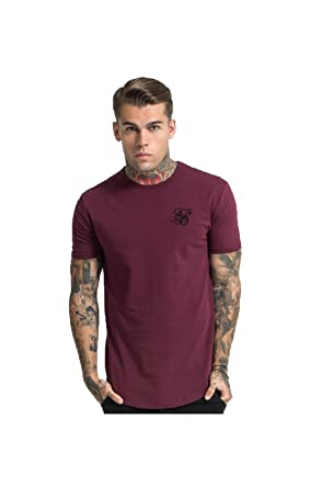 Sleeve Short Mens T Gym BurgundyAmazon Siksilk In co Shirt Tee thrxsBdCQ