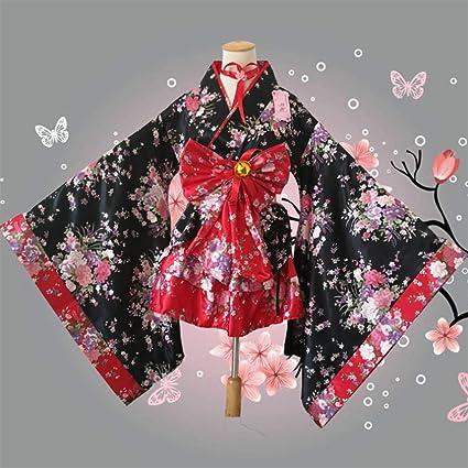 GGOODD Traje De Criada Tradicional Japonesa Lolita Kimono ...