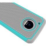 Prosper Dual Layer Hybrid Shockproof 3 in 1 Football Skin Cover Case for Moto G5 Plus (Moto G5 Plus)