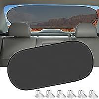 Car Sun Shade, IC ICLOVER UV Protection Folding Auto Rear Window Sunshade, 39 Inchesx20 Inches Universal Mesh Back…