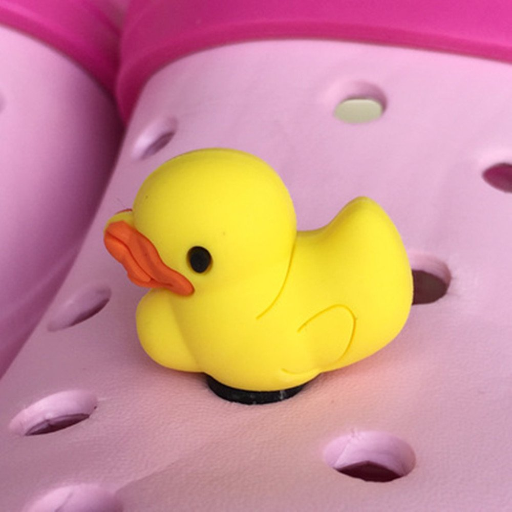 23Pcs 3D Shoes Charms Shoe Charmers for Croc Shoes & Wristband Bands Bracelet Party Gifts Duck Shape Set#82