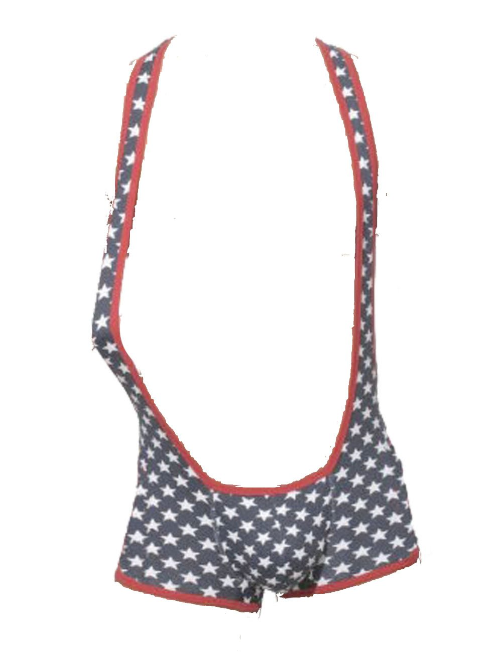 K-Men Men American Flag Lingerie Underwear Pant Jockstrap Thong Pouch G-String M