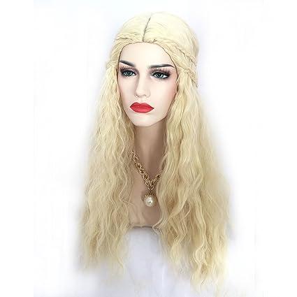 Encanto Pelucas Europa y los Estados Unidos Fake nivelación de pelo largo rizado pelucas de pelo