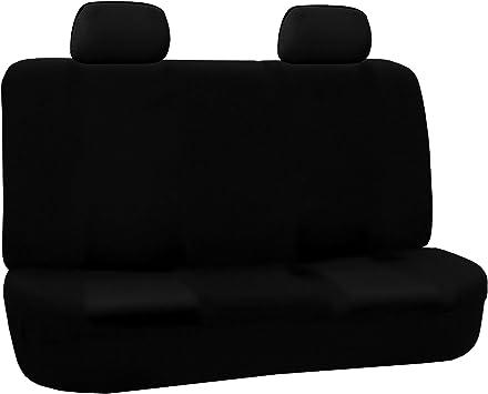 Type S imitaci/ón de piel y malla Funda acolchada para asiento color negro