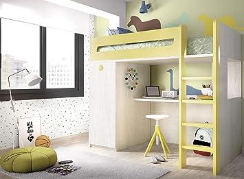 ambiato Jump 306 Lit Mezzanine pour Chambre d\'enfant avec ...