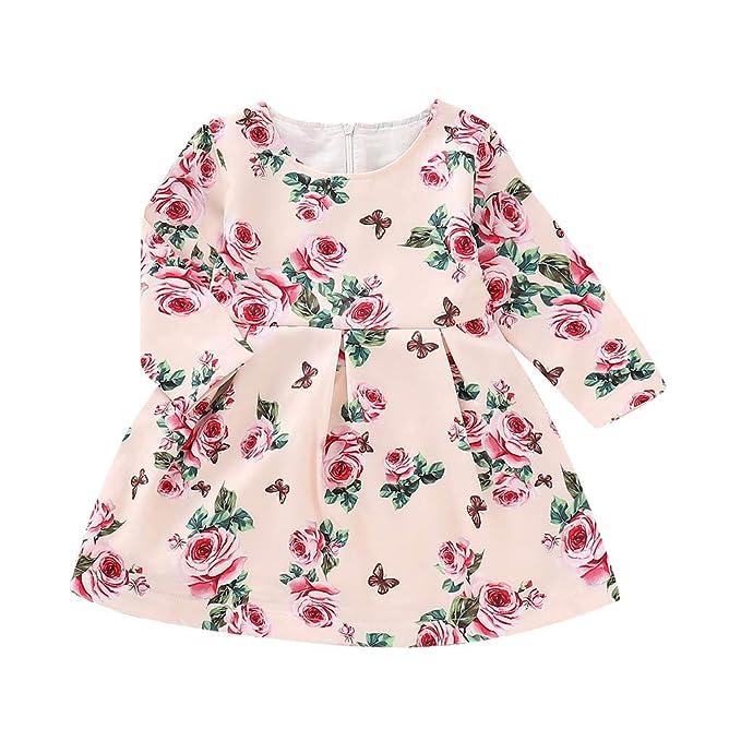 Mitlfuny Primavera Verano Ropa Niñas Bebé Princesa Vestidos ...