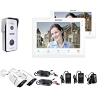 "TMEZON 10"" IP WIFI Video Door Phone Doorbell Intercom System 2x 960P Security Camera System Montion Detection Entry…"