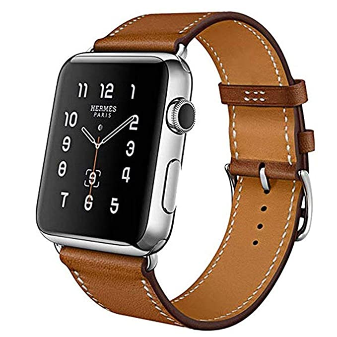Compatible for iWatch Band 38mm 40mm Series1,Series2,Series3,Series4,MroTech Compatible iWatch Strap Genuine Leather Wristband Replacement Watchband ...