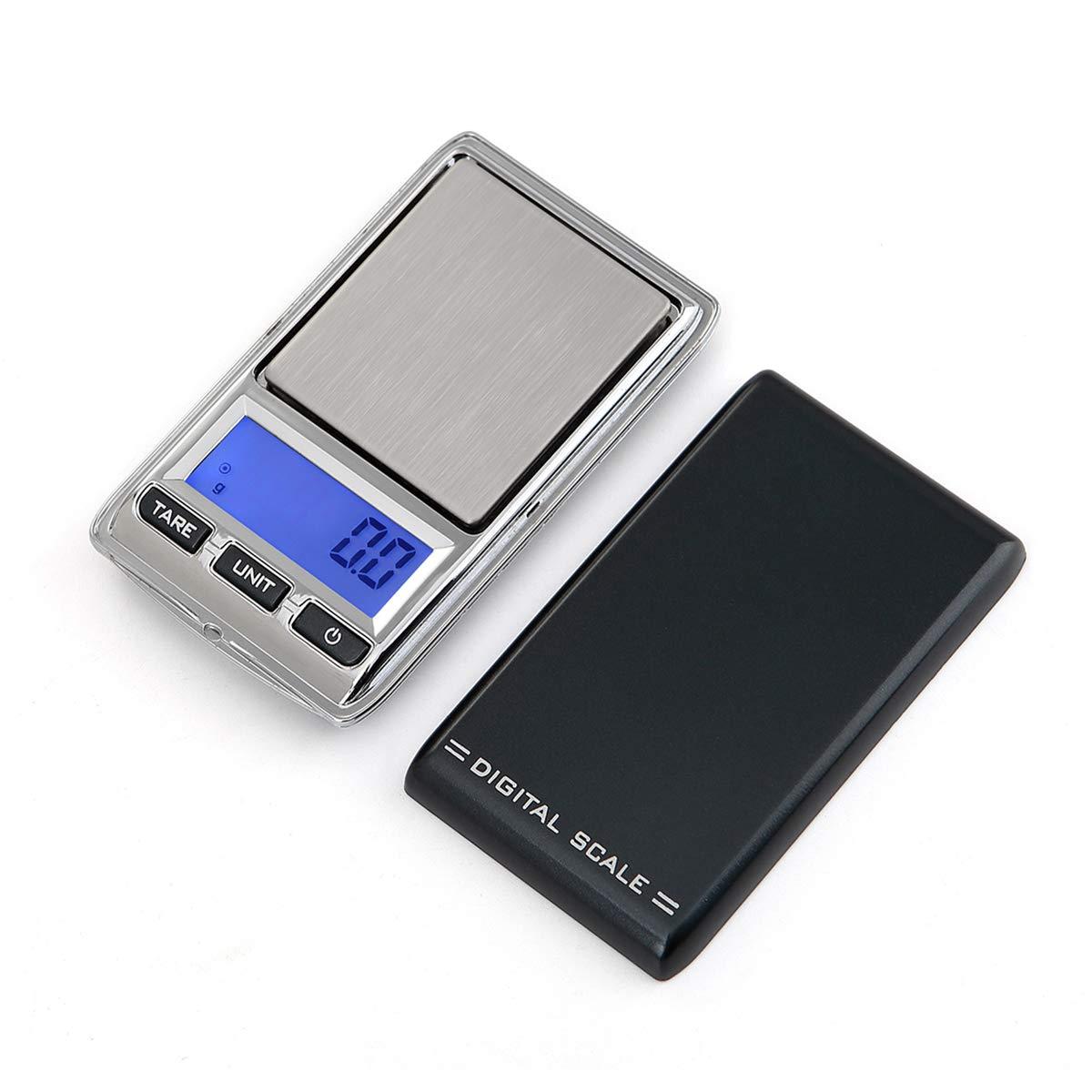 Digital de Bolsillo para Joyería con Pantalla LCD, Balanza electronica de joyas, Balanza De Precision Con Función De Contador 100g~0.01g iitrust C03085-C-BLK