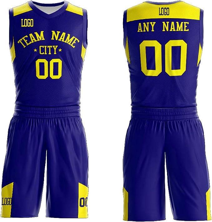 Amazon.com: Camisetas de baloncesto personalizadas con ...