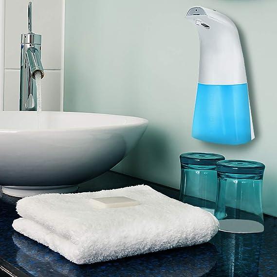 JUSTDOLIFE Dispenser schiumogeno per erogatore di shampoo senza contatto con dispenser automatico di sapone da 250 ml (8,45 once)