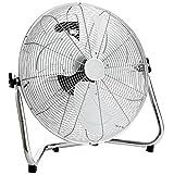 Oypla Electrical 20' Inch 50cm Chrome 3 Speed Floor Standing Gym Fan Hydroponic