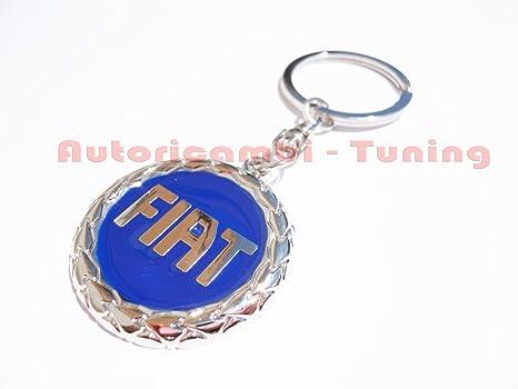 llavero metàlico logo Fiat color azul: Amazon.es: Coche y moto