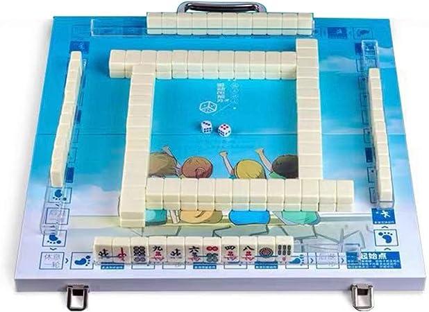 Juegos de Mesa Mahjong Chinese Mahjong Portable Mahjong Set Free Mahjong Game Home Juegos De Mesa Casuales 144 Hojas (Color : Blanco, Size : 2.2cm): Amazon.es: Hogar