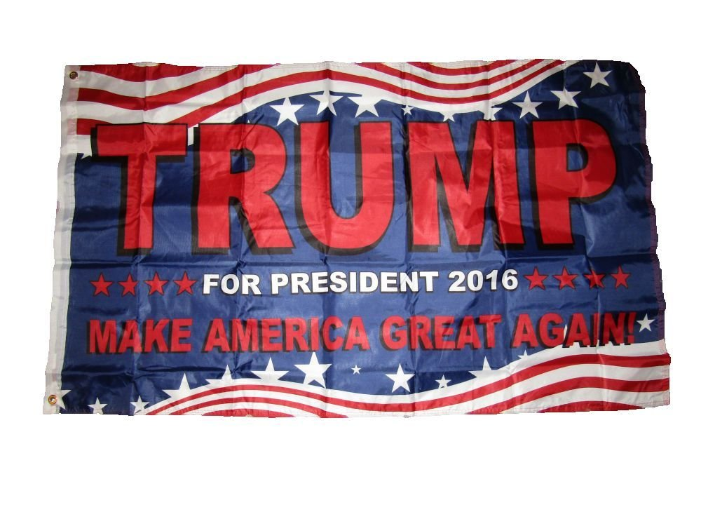 3X5 Usa Trump Make America Great Double Sided 3Ply Nylon Liner Flag 3'X5'