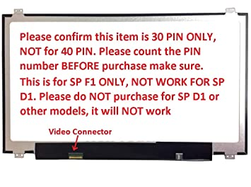 F1 SP New Replacement LCD Screen for Laptop LED Full HD Matte LG LP173WF4