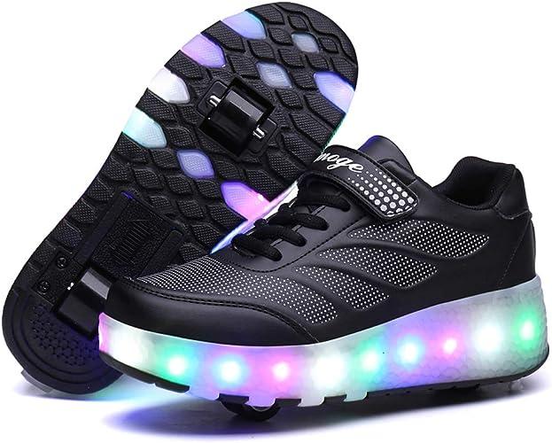 Boys Girl Single Roller Shoes Lightweight Wheeled Skate Sneakers Outdoor Sport