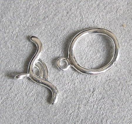 x 2 sets toggle clasps shaped silver sheet 19 x 23 mm
