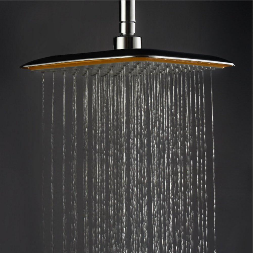 Ke1aip Pera de ducha giratoria 360/º cuadrada filtro i/ónico de alta presi/ón
