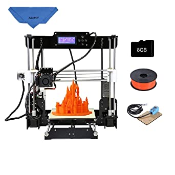 Anet A8 High Precision Desktop 3D Printer Reprap i3 DIY Kits Acrylic Frame  Printing Size 220*220*240mm with 8GB SD Card 1 Roll of Filament Support