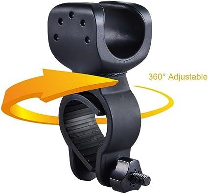 360 ° universel vélo fixation guidon LED Lampe Lampe de poche support de