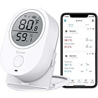 Govee WiFi Temperature Humidity Monitor, Wireless Digital Indoor Hygrometer Thermometer with App Alerts, Temperature…