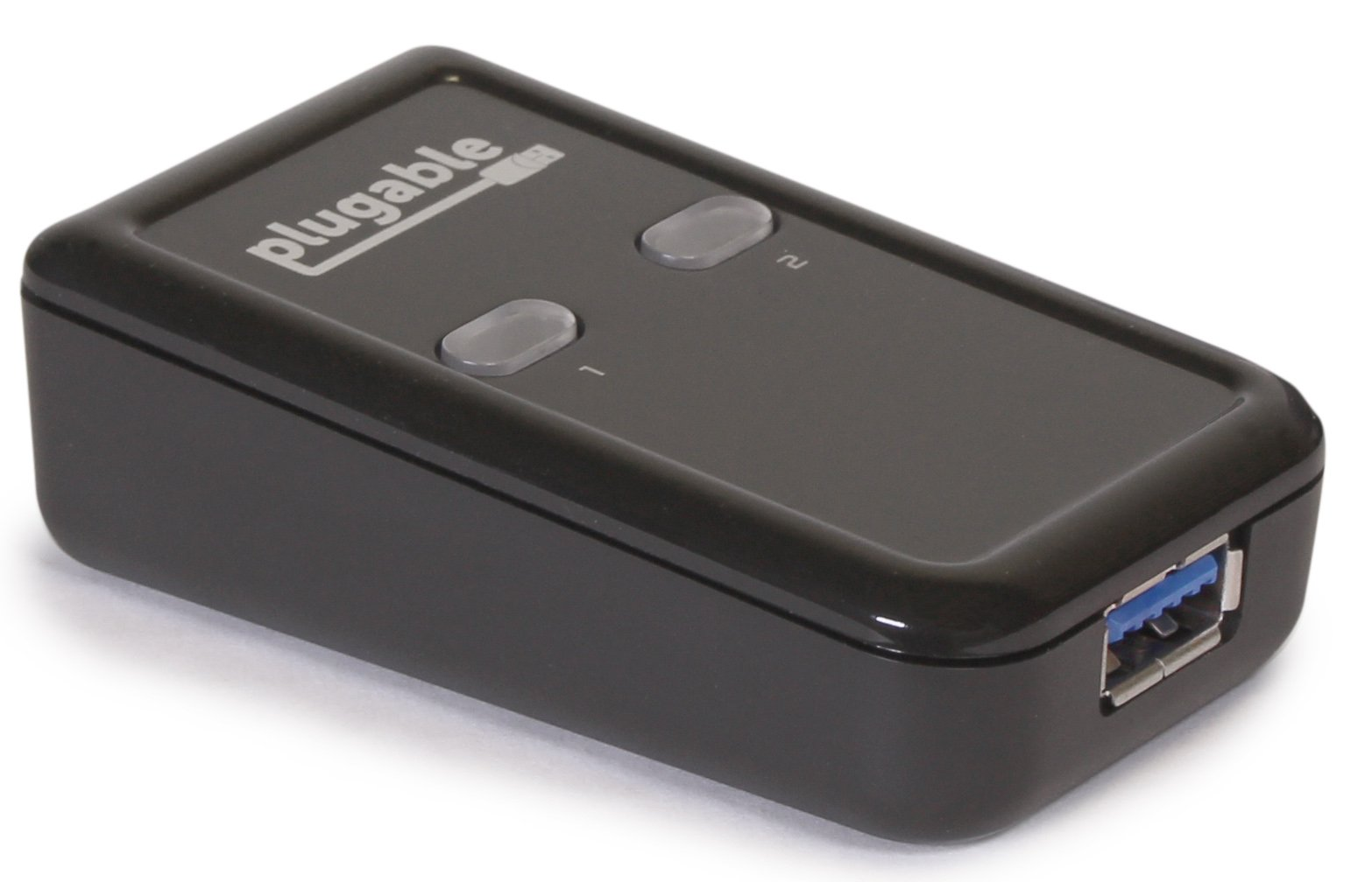 Plugable USB 3.0 Sharing Switch for One-Button Swapping of USB Device or Hub Between Two Computers (AB Switch) by Plugable