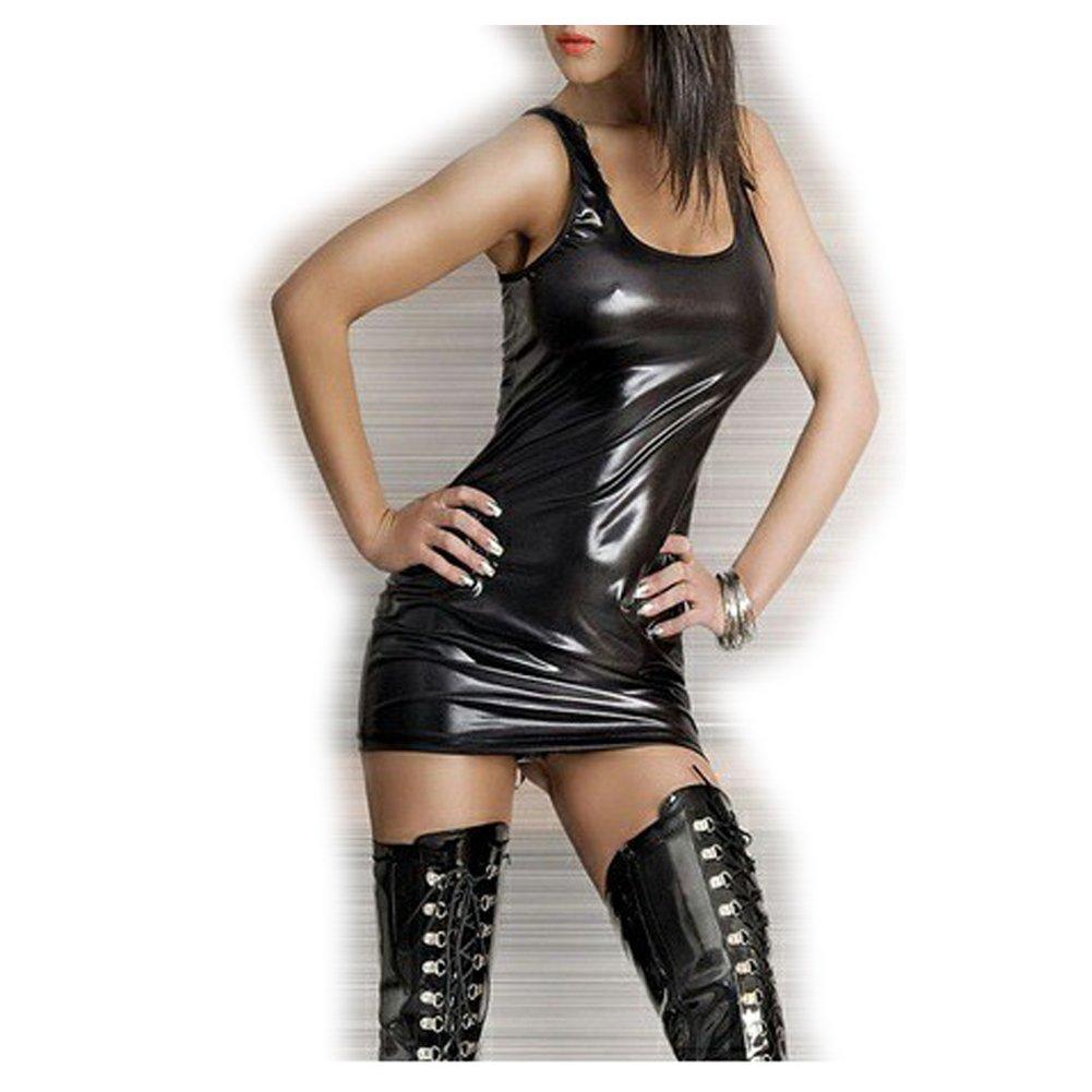 Dopobo ropa interior atractiva del vestido, la falda de la vestido, correa ,badydolle negro con T-string para mujeres a47d48