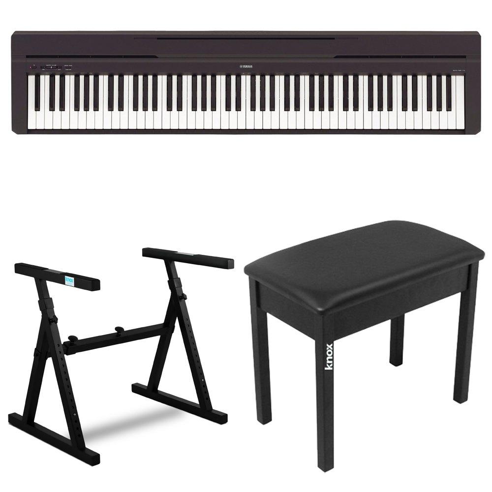Yamaha P45B 88 Key Digital Piano with Knox Z Style Keyboard Stand and Piano Bench by YAMAHA