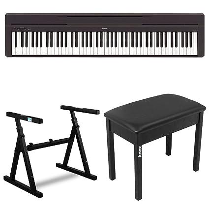 Yamaha P45B 88 Key Digital Piano With Knox Z Style Keyboard Stand And Piano  Bench