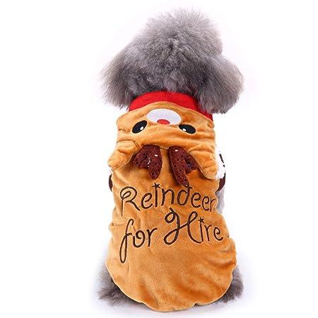 Disfraz de Navidad para mascotas, con capucha para perro, pijamas ...