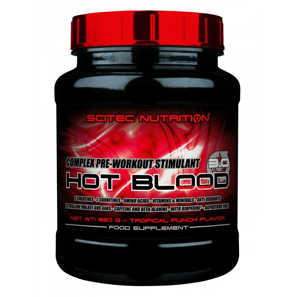 SCITEC Nutrition Hot Blood 3.0 - 820 gr Naranja: Amazon.es: Alimentación y bebidas