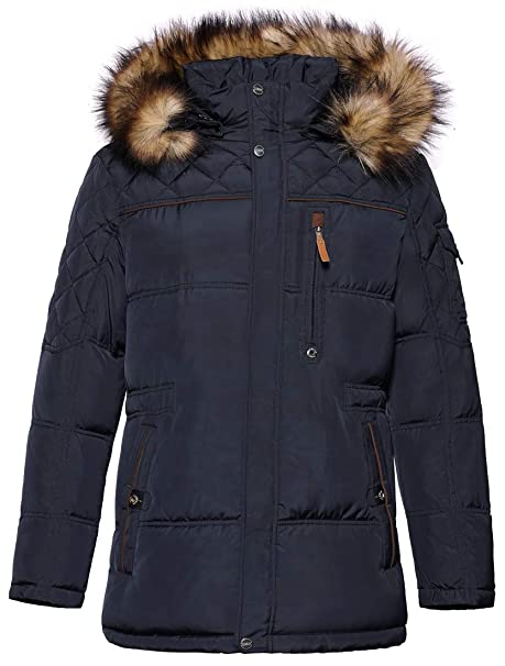 2f697cebe8d ICEbear Men's Down Jacket Waterproof Winter Parka Short Down Coat with Fur  Hooded: Amazon.ca: Clothing & Accessories