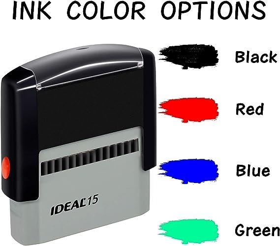 Sellos de goma personalizables- personalizables Sello autoentintable- Volver sello de direcci/ón personalizado Negro Hasta 3 l/íneas de texto