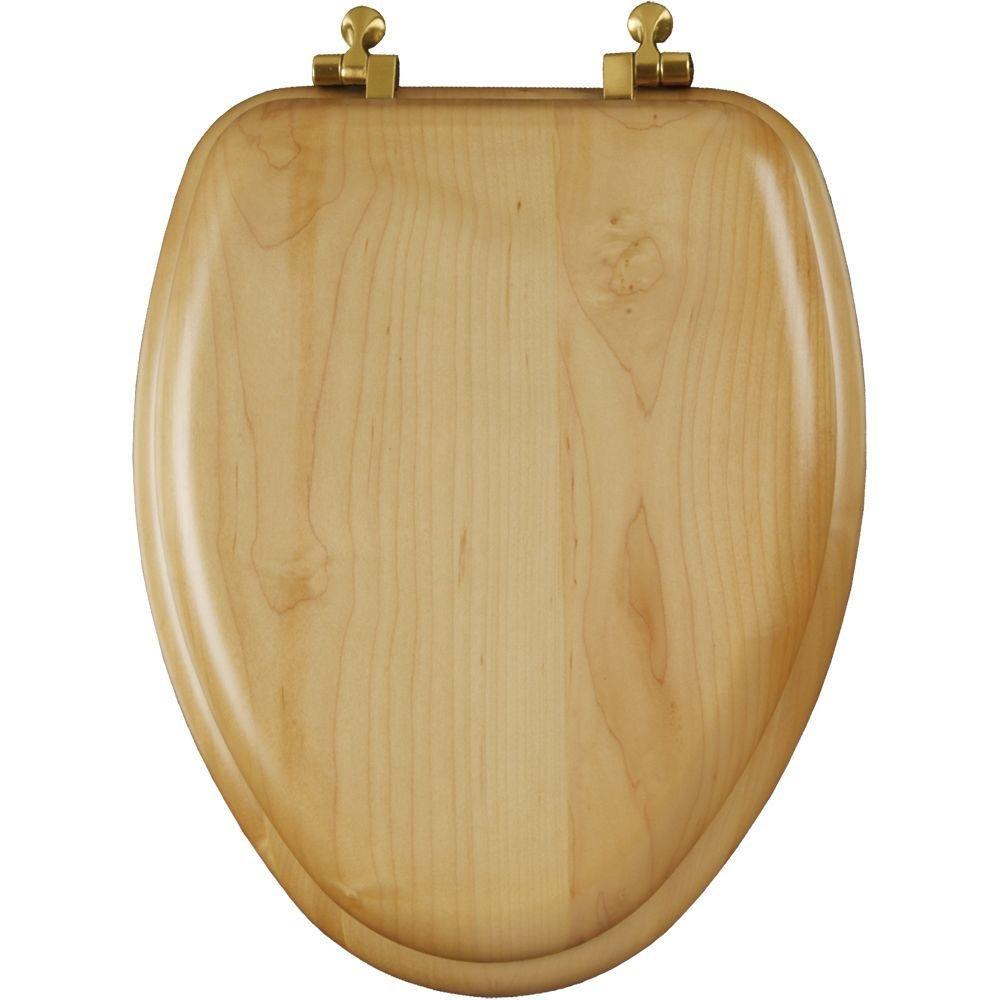 Astonishing Mayfair 19601Br 418 Natural Reflections Wood Veneer Toilet Seat With Brass Hinges Elongated Maple Customarchery Wood Chair Design Ideas Customarcherynet