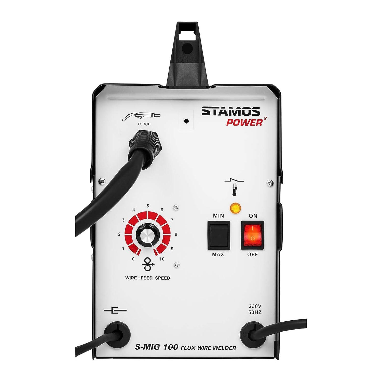 Stamos Power - S-MIG 100 - Máquina de soldar de hilo tubular 90 A - 230 V / 50 Hz - Envío Gratuito: Amazon.es: Bricolaje y herramientas