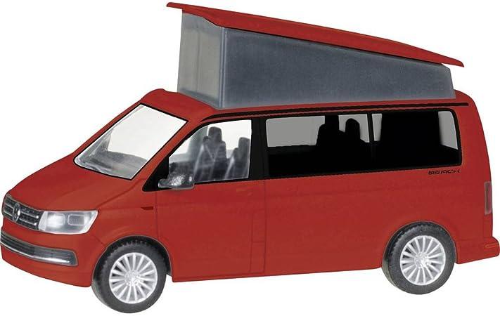 VW Volkswagen T6 Transporter Kasten Rot T5 Ab 2 Facelift 2015 H0 1//87 Herpa M..