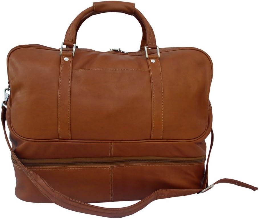 Piel Leather False-Bottom Sports Bag Black One Size