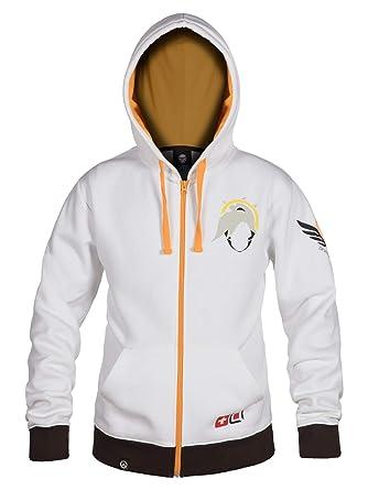 7ce1c267d Amazon.com: JINX Overwatch Ultimate Mercy Zip-Up Hoodie: Clothing