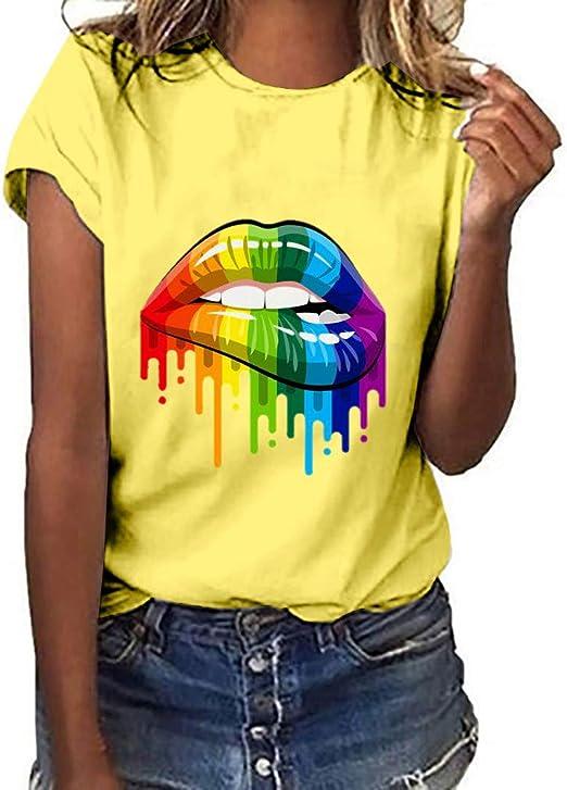 Toponly - Camiseta de manga corta para mujer, diseño de gestos de ...