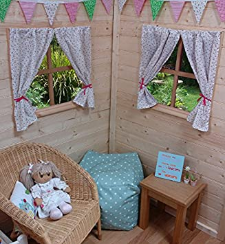 Marvelous KIDS PLAYHOUSE CURTAINS ~ ROSE ~ INCLUDES FITTINGS ~ WENDY HOUSE/SUMMER  HOUSE