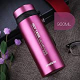 Rose 30 Oz Stainless Steel Flask Sports Water Bottle Coffee Travel Mug