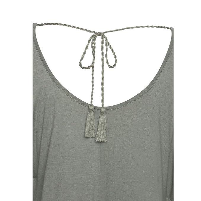 Camisas para Mujeres, Clásico Colores Sólidos Gris Mangas frías ...