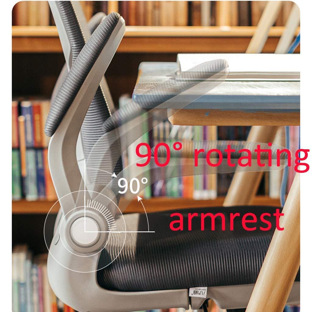 ZZHZY BBGS svängbar stol för hemmakontor, justerbar datorstol, mellanrygg lounge stol, tygmatstol, ergonomisk stol, 4 färger (färg: svart) gRÖN